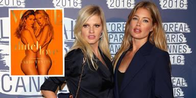 Doutzen Kroes & Lara Stone nackt auf der Vogue