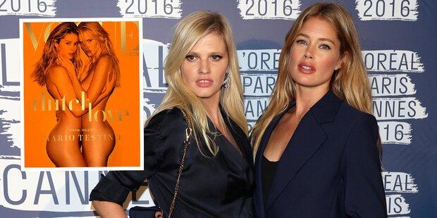 Doutzen & Lara nackt auf der Vogue