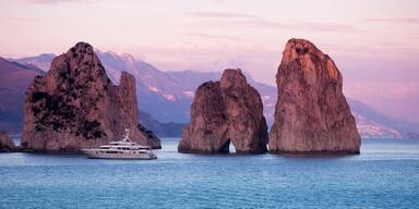 Capri Felsen und Meer