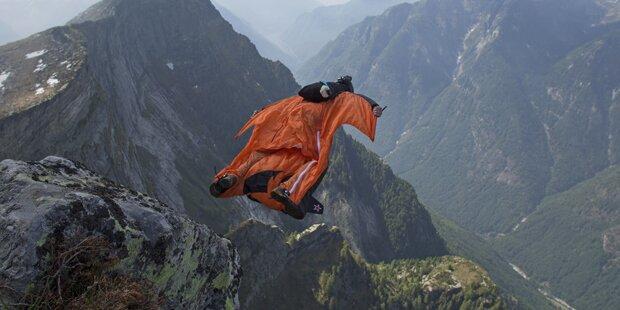 Drama um Sportler: Mit Wingsuit verunglückt
