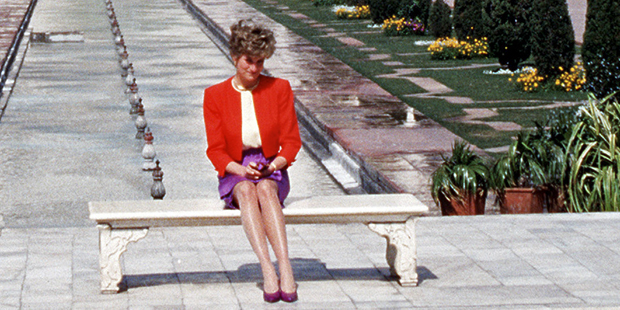Lady Diana am Taj Mahal