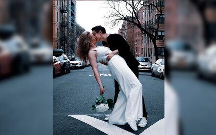 Paar heiratet auf leeren Straßen von New York