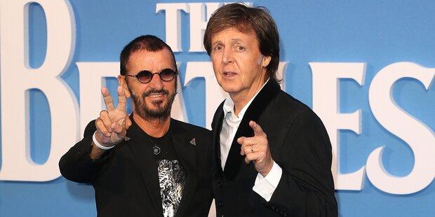 Ringo und Paul gemeinsam im Studio