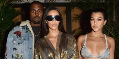 Kanye West, Kim Kardashian, Kourtney Kardashian