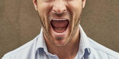 Wut Mann Zorn Streit Schrei