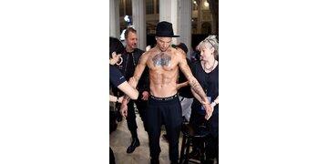 Jeremy Meeks auf der New York Fashion Week