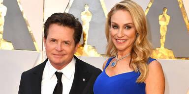 Michael J. Fox und Ehefrau Tracy Pollan