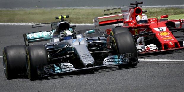 Vettel gewinnt Rennen vor Bottas