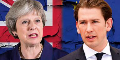 Kurz in London auf Brexit-Mission