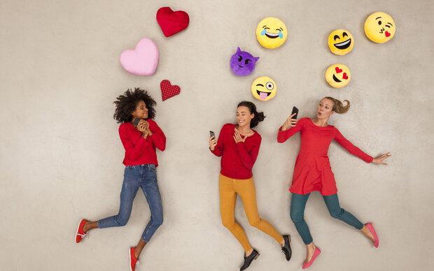 Emoji-Etikette beim Online-Flirting