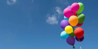 Luftballon flog von Party in Österreich bis Australien