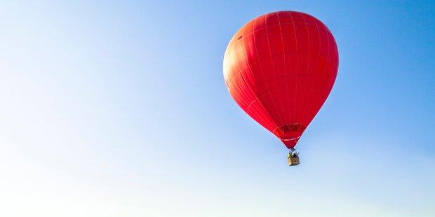 Heißluftballon stürzte in Waldstück - keine Verletzten