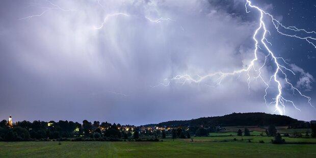 Unwetter wüteten in Salzburg