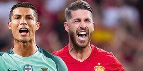 Mega-Duell: Chaos-Spanier gegen Portugal