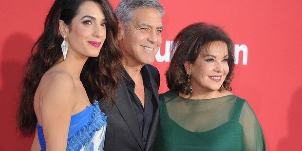 Clooney führt seine Schwiegermama aus