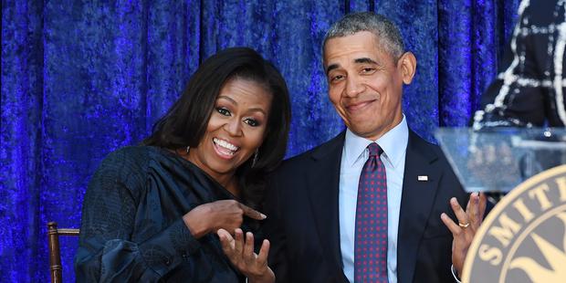 Obamas gratulieren den Machern von