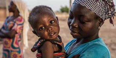 Frau Mutter Kind Baby Afrika