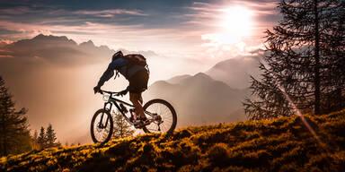 Mountainbike Radfahrer