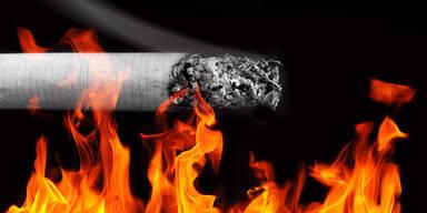 Zigarette Flamme Feuer