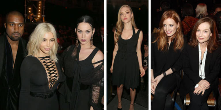 Promidichte in der Givenchy Front Row