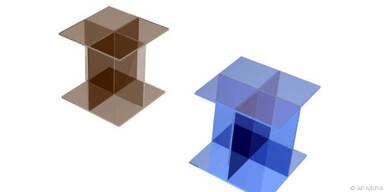 Glastisch ist in verschiedenen Positionen nutzbar
