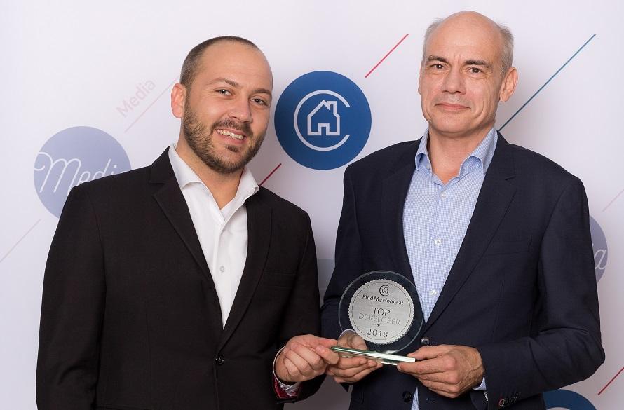 Glorit - IMMO-Ch - Auszeichnung - Lukas Sattlegger, Stefan Messar (beide Glorit)