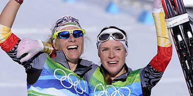 Gold für Claudia Nystad/Evi Sachenbacher-Stehle