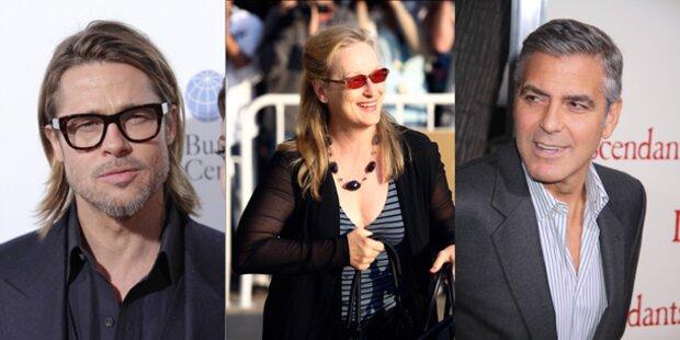Clooney, Pitt und Streep nominiert