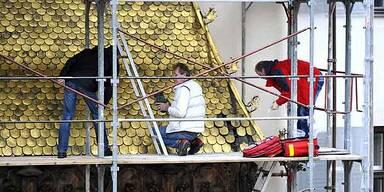 Goldenes Dachl wieder komplett