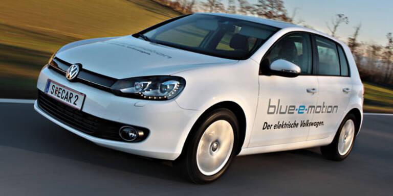 VW testet den Elektro-Golf in Österreich
