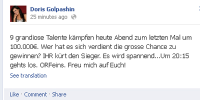 Doris Golpashin Facebook.Status