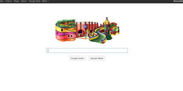 Hundertwasser mit Doodle geehrt
