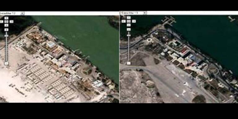 Google retouchiert Satellitenfotos vom Irak