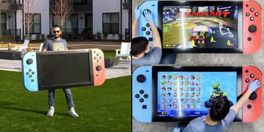 Nintendo-Fan baut 1,8 Meter große Switch