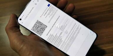 Grünen Pass für Geimpfte aufs Handy holen/ausdrucken