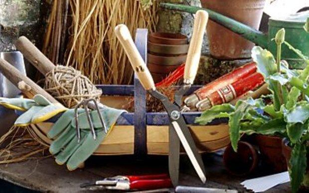 Gartengeräte vor Winterpause gründlich reinigen