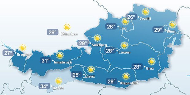 Sahara-Hitze in Österreich