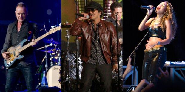 Sting, Mars und Rihanna rocken Grammys
