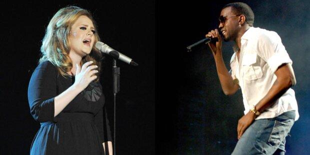 Grammys: Kanye West und Adele on Top