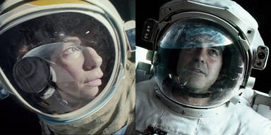 Gravity: Sandra Bullock und George Clooney