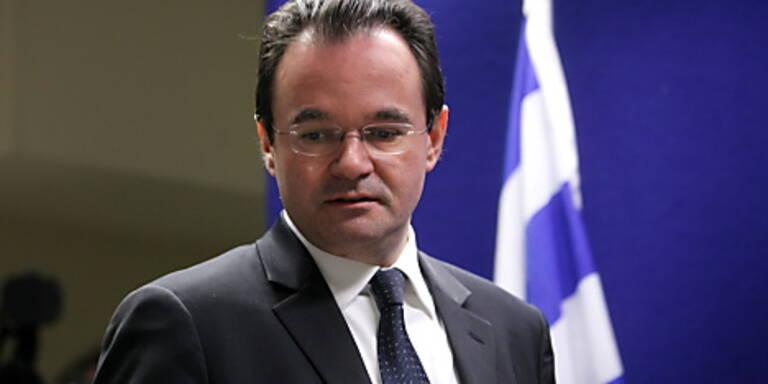 Griechischer Finanzminister Papakonstantinou