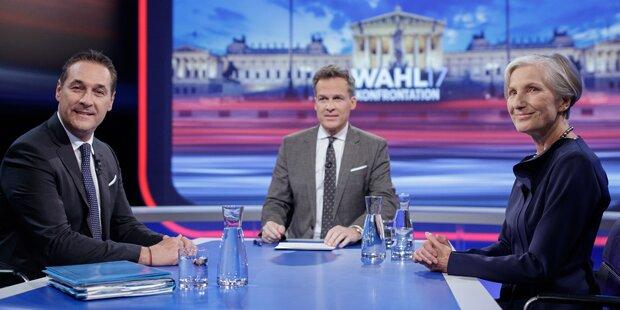 Griss gegen Strache: Lächelnd-höfliche Diskussion