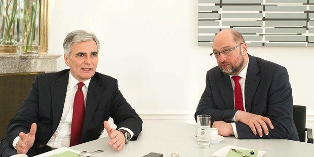 Kanzler und EU-Präsident im Interview