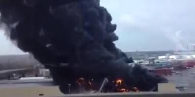 5600 Tonnen Gummi verbrennen in Fabrik