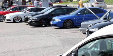 Gutunte Autos beim GTI-Treffen