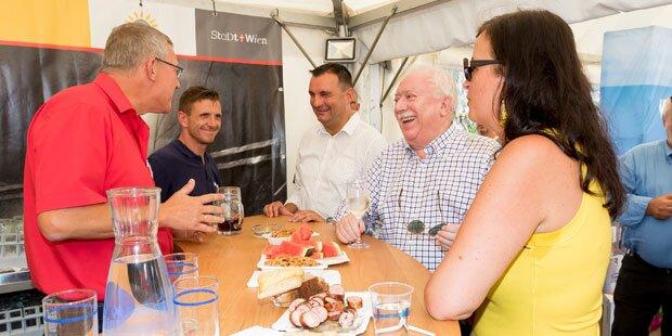 Letztes Donauinselfest für Häupl beginnt mit Spritzer