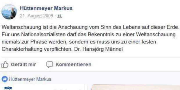 Nazi-Posting: FPÖ-Politiker tritt zurück