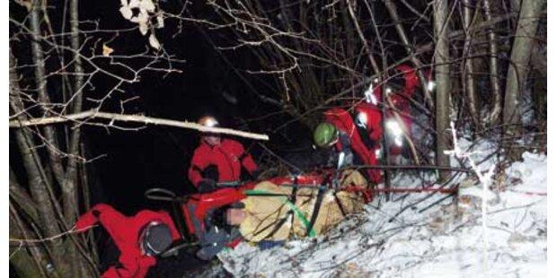 Frau stürzte bei Gassigehen 10 Meter ab