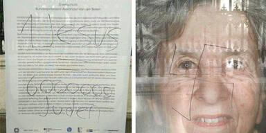 Bilder von NS-Opfer mit Hakenkreuzen beschmiert