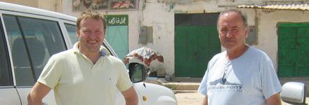 Markus Isopp (34) und sein Vater Richard in Libyen.